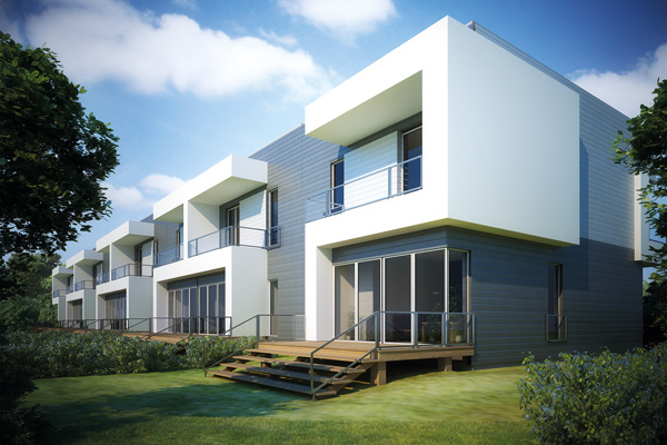 Kunststoffpaneele für Fassaden
