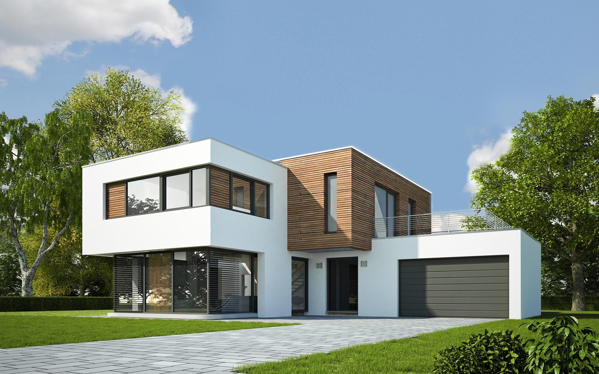 Bild von Haus mit Fassadenverkleidung dekotrim