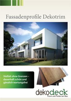 Broschüre Fassadenprofile