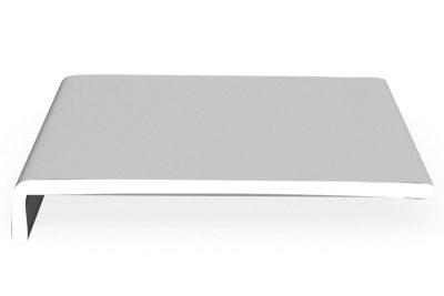 Hartschaumwinkel-Softline Laibungs- und Dachrundprofile dekoboard 250 x 42 x 9 mm