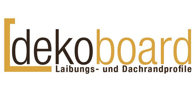 Logo dekoboard für Hartschaumwinkel von dekodeck