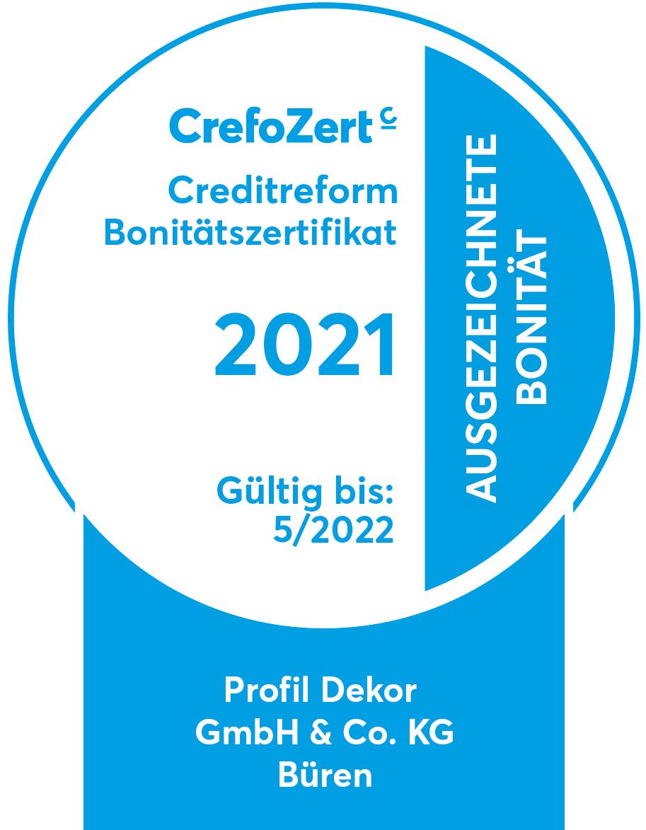 Crefo-Zert Siegel für profil dekor